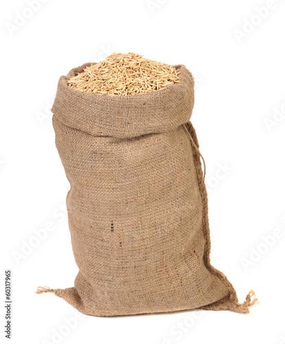 Fotografia Wheat grains in the bag.