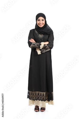Arab saudi woman posing standing happy