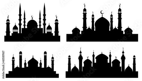 Canvas Print mosque_silhouettes