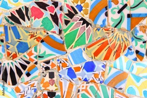 Tablou Canvas Barcelona, Spain - Gaudi mosaic