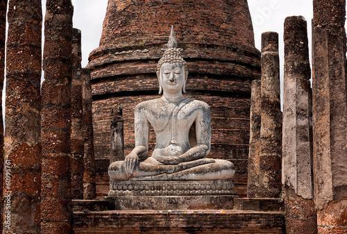Canvas Print Buddha statue in Sukhothai, Thailand