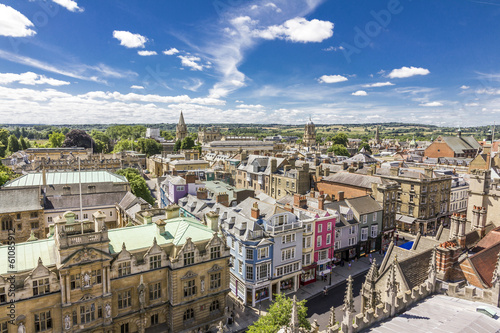 Fotografia Aerial view of roofs of oxford