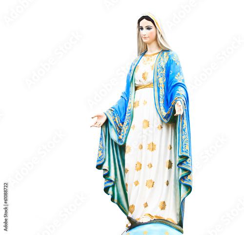 Virgin Mary statue at Roman Catholic Church Fototapeta