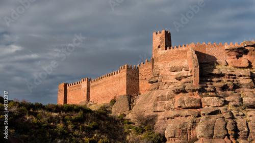 Canvas Print Castillo de Peracense. Teruel. España