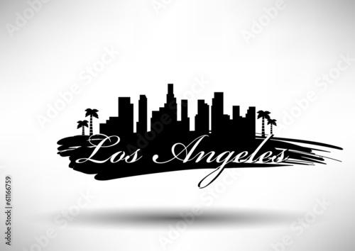 Obraz na plátně Modern Los Angeles Skyline Design