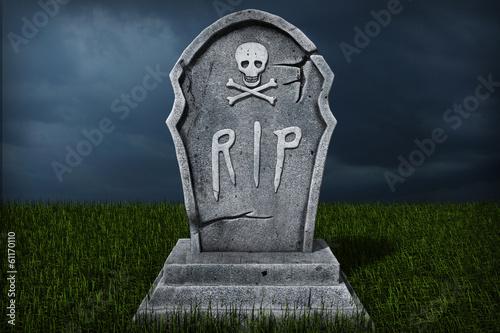 Valokuva 3d illustration of a gravestone