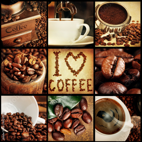 coffee concept collage #61210183