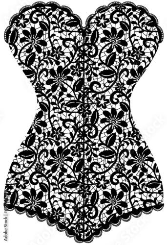 Fotografia vintage corset