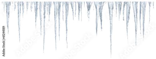 Obraz na płótnie Icicles set on white background