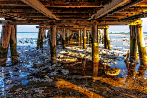 View from under the pier at Sopot, Poland. #61338533