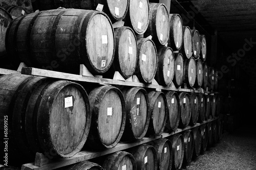 Canvas Print Wine barrels
