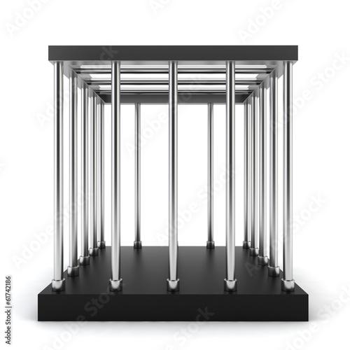 Steel cage Fototapeta