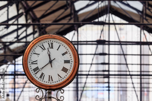 Classic clock in an english underground station #61824756