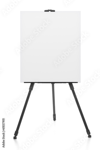 Wallpaper Mural advertising stand or flipchart or blank artist easel isolated on
