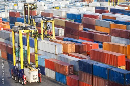 Containerterminal in Tilbury, London, Großbritannien