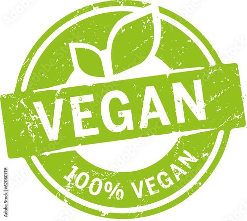 Fotografia Button 100% Vegan