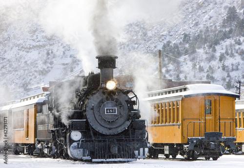 Fototapeta premium Durango i Silverton Narrow Gauge Railroad, Kolorado, USA
