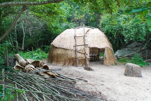 Native American wigwam hut Fototapeta