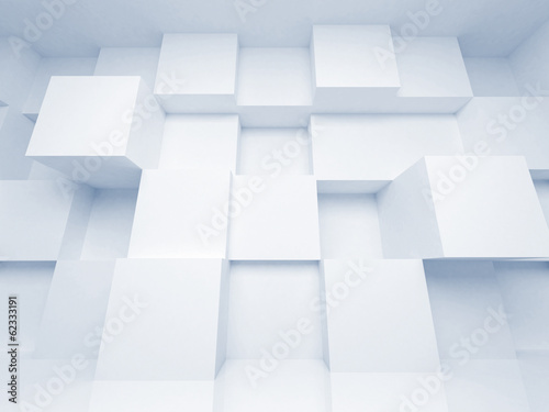 Abstract 3d architecture background with white cubes #62333191