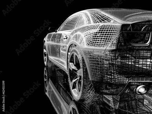 Fototapeta premium samochód z drutu