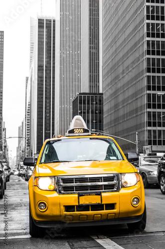 Canvas Print yellow cab of new york