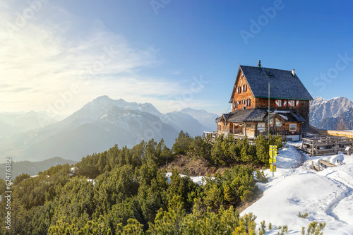 Mountain cabin in the alps #62476382