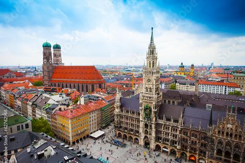 Leinwand Poster Neues Rathaus Glockenspiel, Frauenkirche Bavaria