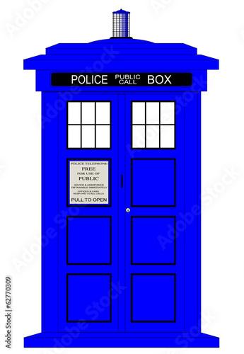 Canvas Print British Police Box