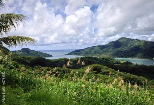 Photo scenic view in french polynesia
