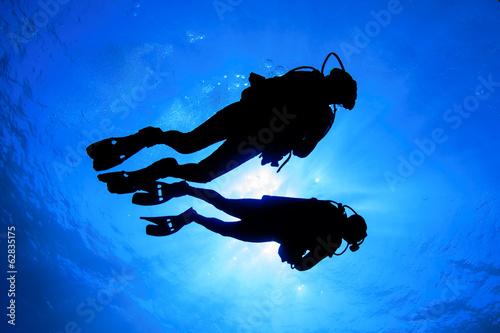 Wallpaper Mural Scuba diving