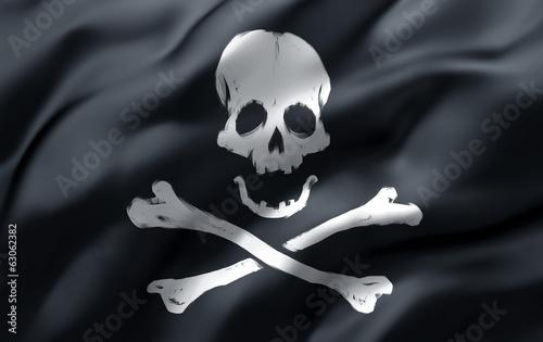 pirate flag in the wind Fototapeta