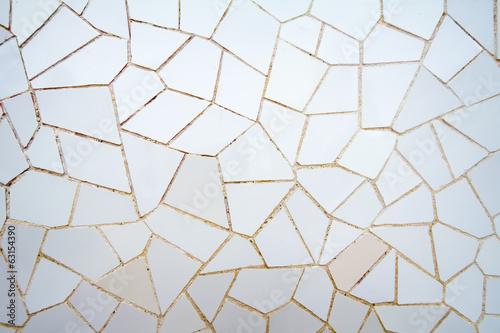 Fototapeta premium Biała mozaika ceramiczna w parku Guell