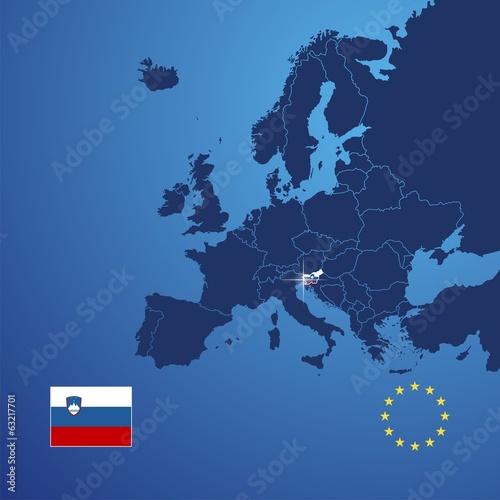 Canvas Print Slovenia map cover vector
