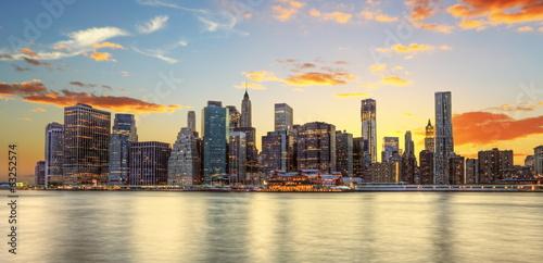 Crépuscule à Manhattan, New York. Fototapeta