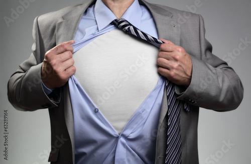 Photo Superhero businessman