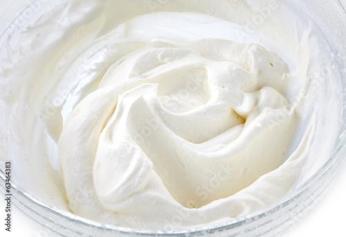 Fotografia bowl of whipped cream