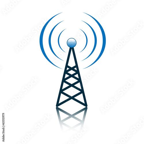 Blue antenna mast sign Fototapet