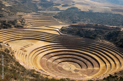Canvas Print Peru - Moray Inca ruin