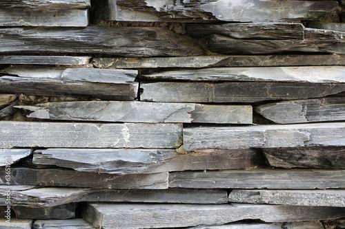 Gray stone wall texture.