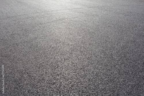 Foto close-up horizontal view of new asphalt road
