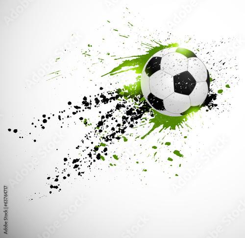 Obraz premium Projekt piłki nożnej