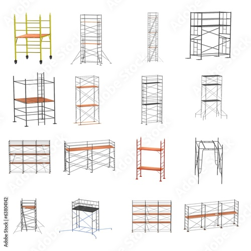 Wallpaper Mural realistic 3d render of scaffolding set