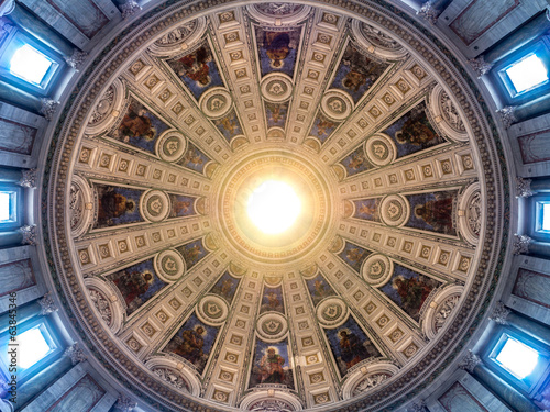 Circular dome church sealing featuring the Twelve Apostles Fototapeta