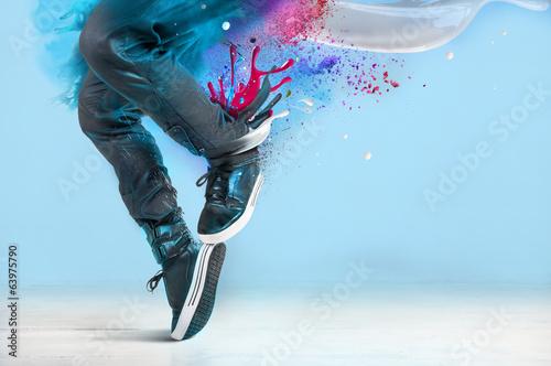 Canvas Print Modern dance pose