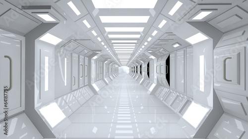 Photo Futuristic corridor