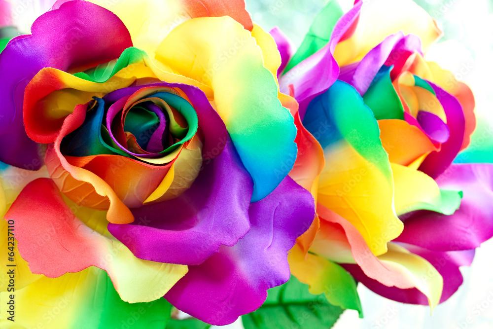 fake rose flower - obrazy, fototapety, plakaty