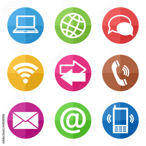 color circular communication icons Tapéta, Fotótapéta