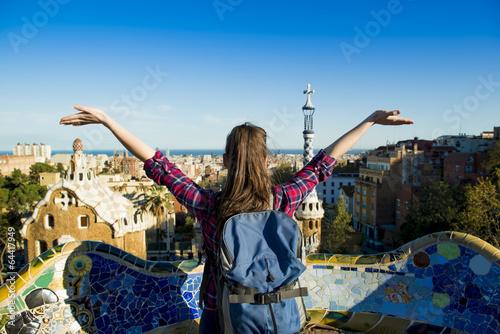 Fototapeta premium Kobieta turystka
