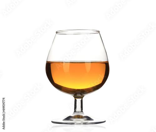 Brandy cognac glass isolated.