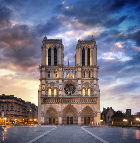 Fototapeta Cathédrale notre-dame de Paris